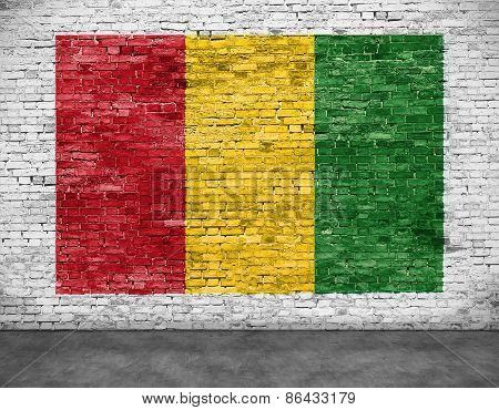 Reggae Flag Painted On  Brick Wall