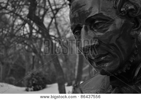 Hans Christian Andersen black and white