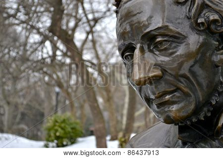 Hans Christian Andersen close up