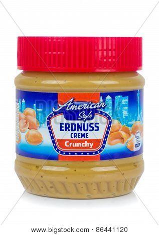 A jar of American Style German Erdnuss Creme