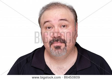 Skeptical Middle-aged Man Raising His Eyebrows