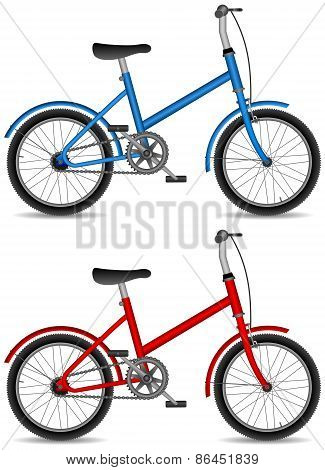 children bicycles, boy and girl bike