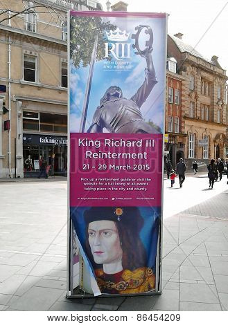 Official Poster For King Richard Iii's Reinterment In Leicester, England.