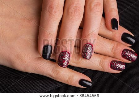 Beautiful manicure nails.