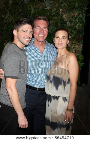 LOS ANGELES - MAR 26:  Robert Adamson, Peter Bergman, Gina Tognoni at the Young & Restless 42nd Anniversary Celebration at the CBS Television City on March 26, 2015 in Los Angeles, CA
