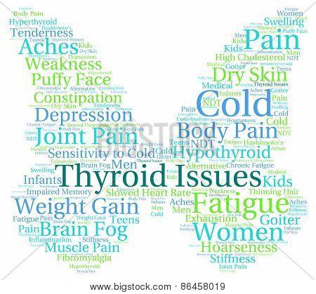 Thyroid Issues Word Cloud