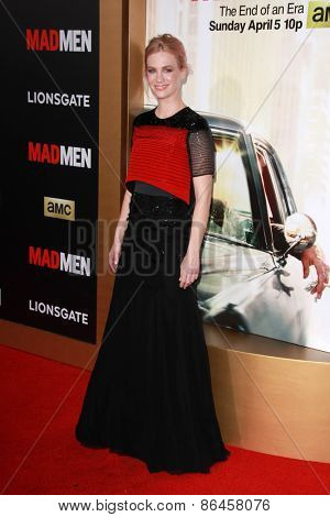 LOS ANGELES - MAR 25:  January Jones at the Mad Men Black & Red Gala at the Dorthy Chandler Pavillion on March 25, 2015 in Los Angeles, CA