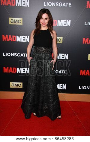 LOS ANGELES - MAR 25:  Cara Buono at the Mad Men Black & Red Gala at the Dorthy Chandler Pavillion on March 25, 2015 in Los Angeles, CA
