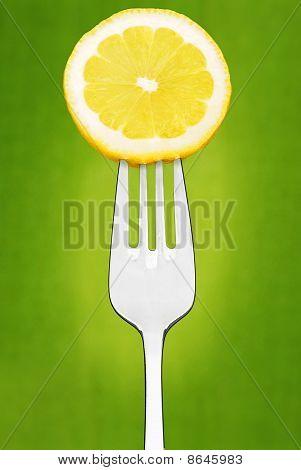 Lemon Slice on Fork