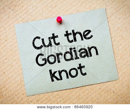 Cut The Gordian Knot