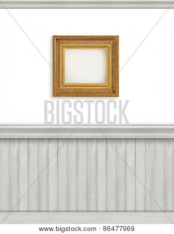 Blank backdrop with bead board for advertising