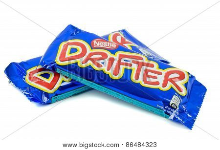 Two packs of Nestles Drifter chocolate bars