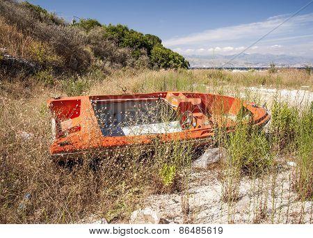 Abandoned Motor Boat