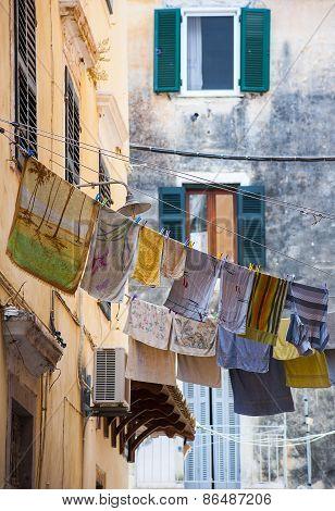 Streets Of Corfu Town
