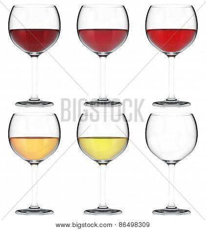 Glass of Wine 3D Set