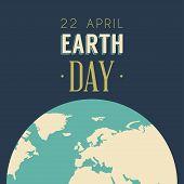 Vintage Earth Day Celebrating Card or Poster Design poster