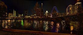 Austin Texas City Skyline At Night