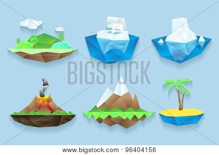 Vector poly islands set