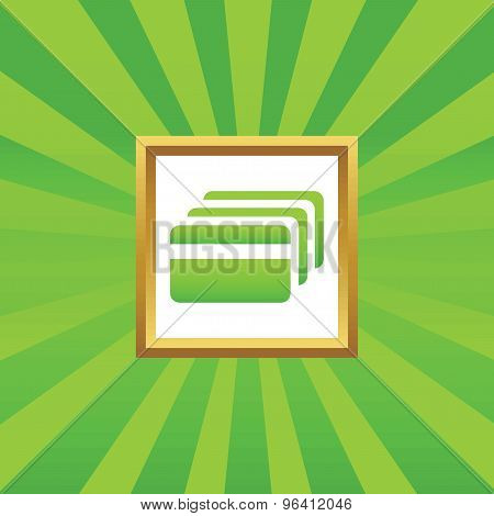 Credit card picture icon