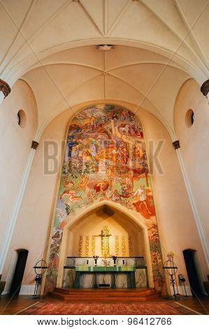 Interior Of Sofia Kyrka - Sofia Church - In Stockholm, Sweden