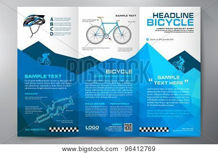 Tri-fold bicycle brochure template.