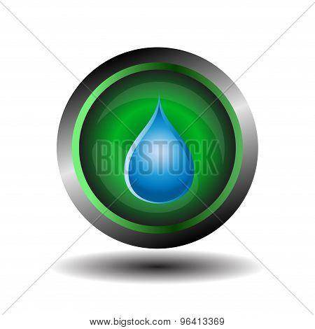Water drop button. water drop set, blue drop buttons