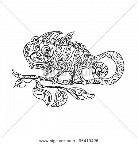 Chameleon zentangle