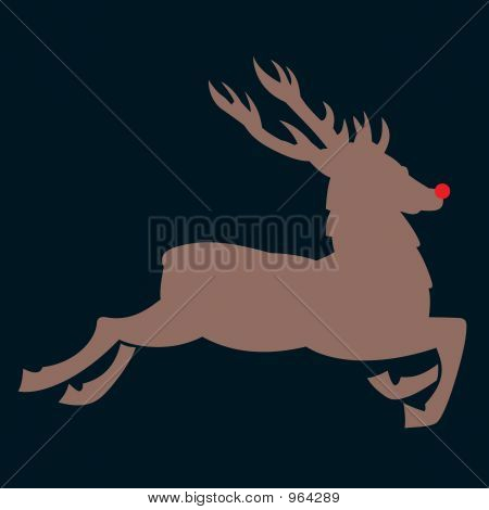 Red Nosed Reindeer At Night