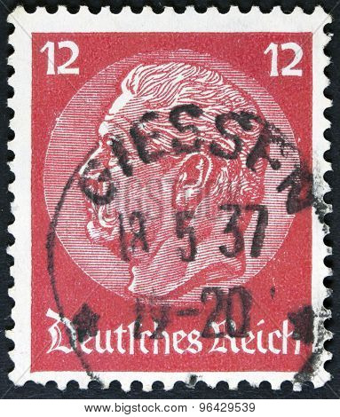 famous graphic image on a postage stamp