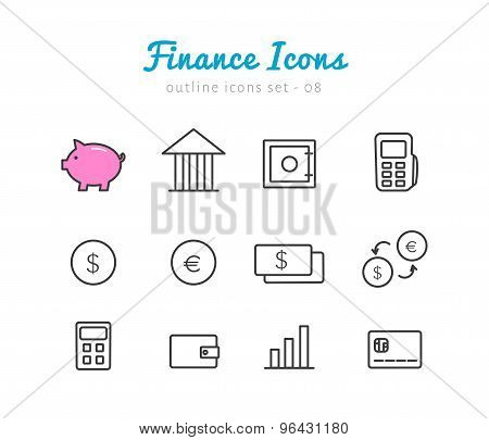Financical icons set