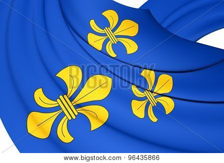Flag Of Wiesbaden City, Germany.