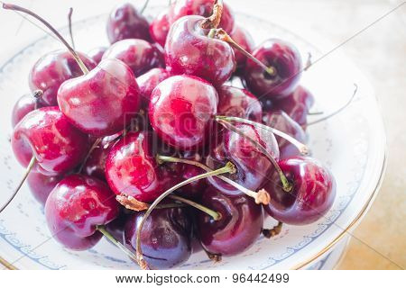 Sweet Ripe Fresh Cherry Berries