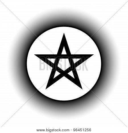Pentagram Button.