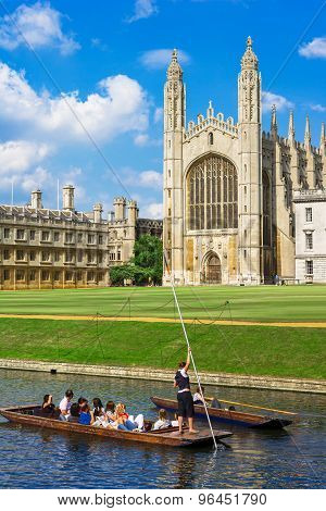 Kings College In Cambridge University, England