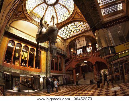 Lucerna Passage Shopping Center - Horse Sculpture