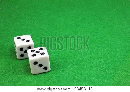 Two Dice For A Game Of Dice