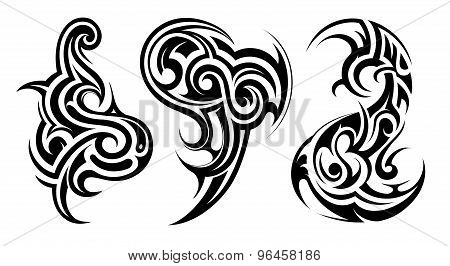 Tribal art tattoo