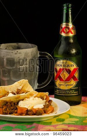 Burritos With Beer
