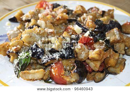Eggplants Cooked Mushrooms Style