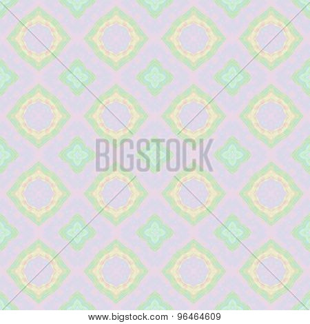Abstract smooth transparent pinky background with floral pattern made seamless poster