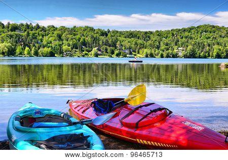 Peaceful morning at the lake