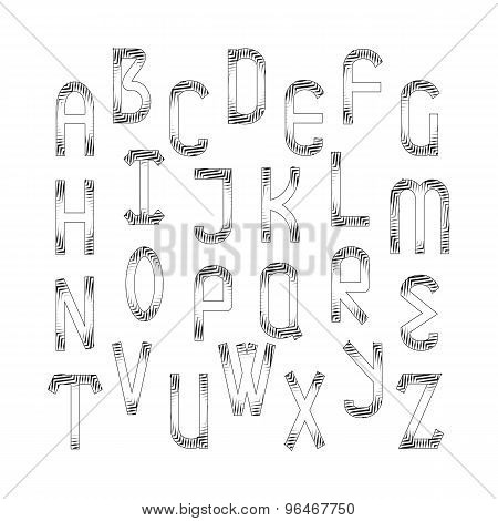 Vector English Alphabet Set.