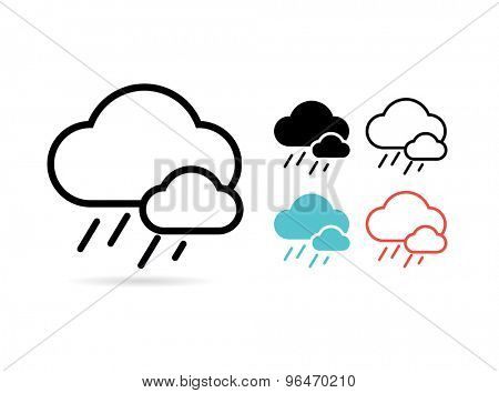 Web cloud icon. Web, Idea, Creative and Weather. Vector stock illustrations for design