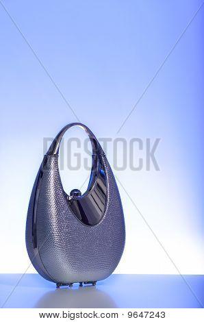 Silver, metal purse