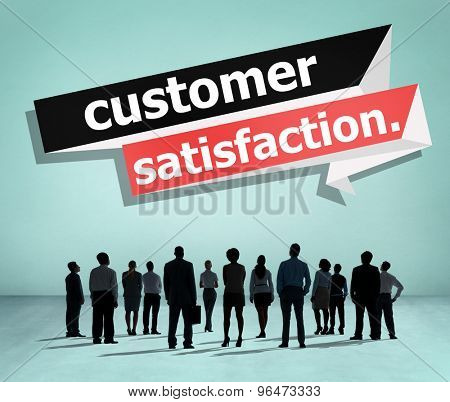 Customer Satisfaction Service Efficiency Consumer Concept poster
