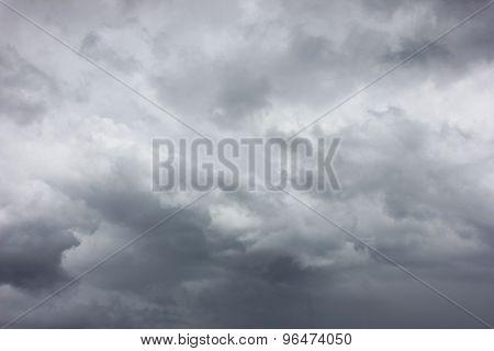 Dark Cloudy Stormy Grey Sky