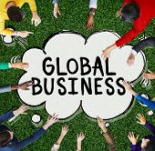 Global Business Marketing Globalization Commerce Concept poster