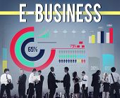E-business Internet Networking Website Commerce Concept poster