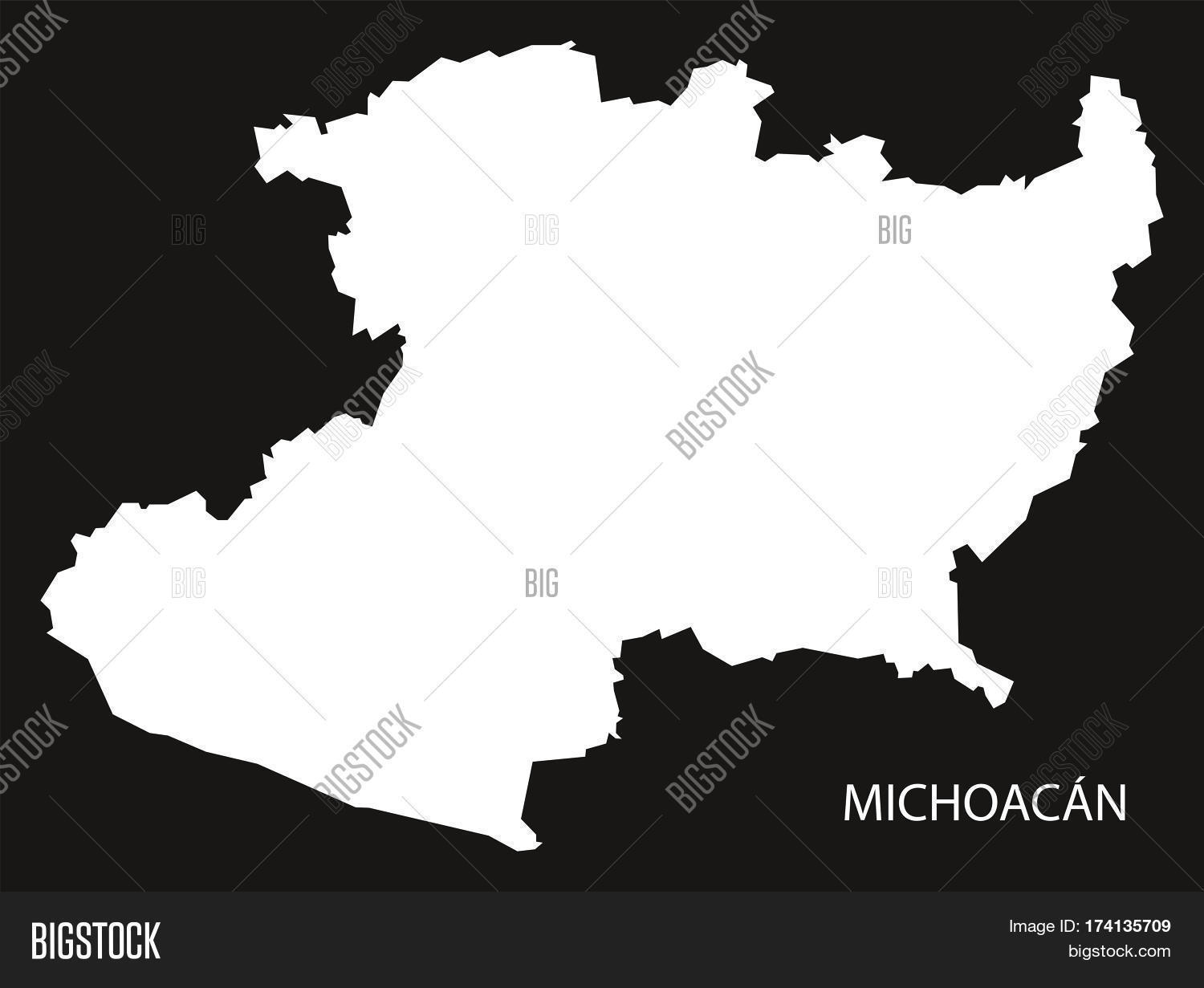 Michoacan Mexico Map Image & Photo (Free Trial) | Bigstock