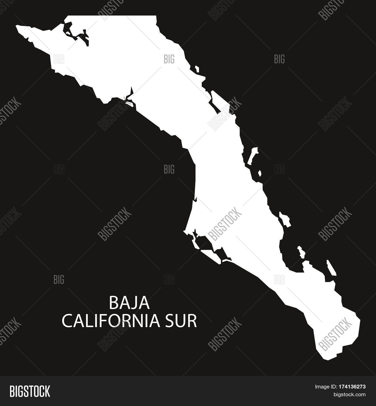 Baja california sur image photo free trial bigstock baja california sur mexico map black inverted silhouette publicscrutiny Choice Image